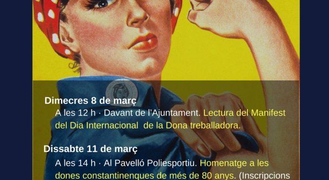 Constantí organitza diverses activitats al voltant del Dia de la Dona