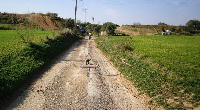 Continuen les tasques de millora dels camins rurals del terme